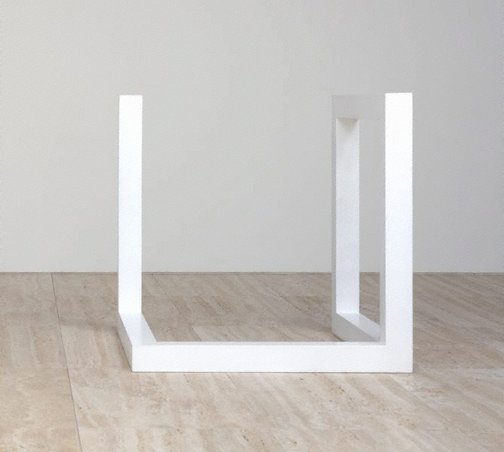 An image of Incomplete open cube 7/21 by Sol LeWitt