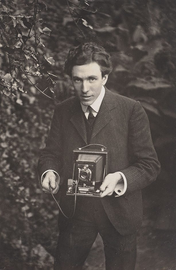 Self portrait - Harold Cazneaux, (1904) by Harold Cazneaux