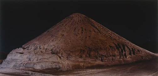 An image of The large mound of crushed gypsum at Ballast Head (2) by Ed Douglas