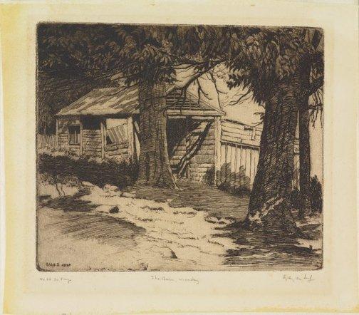 An image of The barn, Winnstay by Sydney Ure Smith