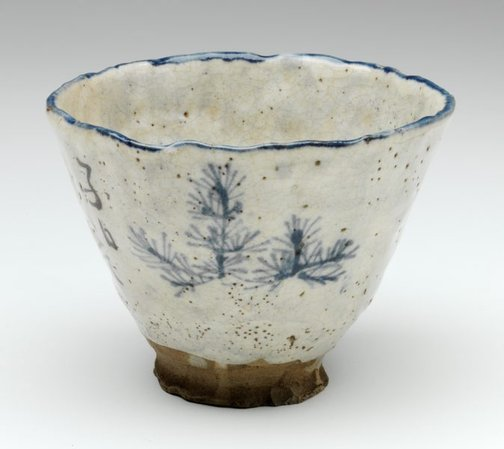 An image of Teabowl (chawan) by possibly Issō or Kuroda Kōryō (1823-1895)