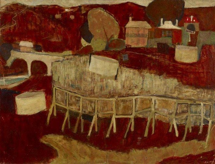 AGNSW collection Brett Whiteley Sofala (1958) 351.1998