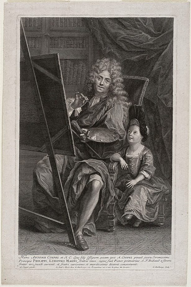 An image of Antoine Coypel and his son