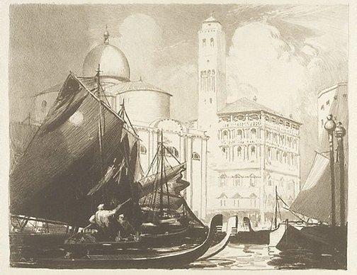 An image of Palazzo Labia by Arthur Streeton