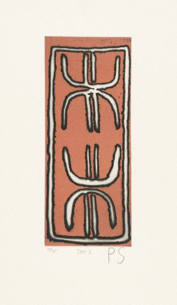 An image of Door one by Paddy Japaljarri Stewart