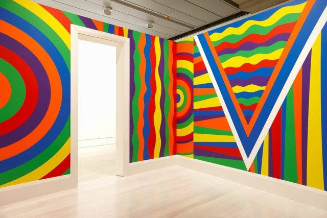 Wall drawing #1091: arcs, circles and bands (room), (2003) by Sol LeWitt