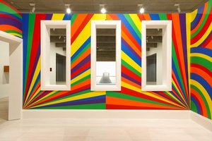 Wall drawing #1091: arcs, circles and bands (room), (2003) by Sol LeWitt