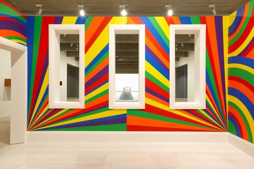 AGNSW collection Sol LeWitt Wall drawing #1091: arcs, circles and bands (room) (2003) 352.2011