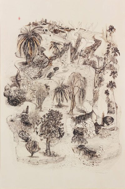 An image of Lindfield gardens II by Brett Whiteley