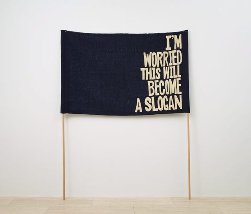 An image of I'm worried this will become a slogan (Anthony) by Raquel Ormella