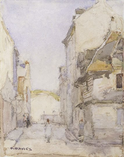 An image of Old houses, Dieppe by David Davies