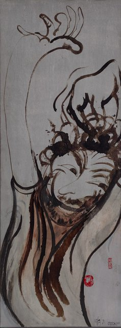 AGNSW collection Brett Whiteley Self portrait after three bottles of wine (1971) 354.1998