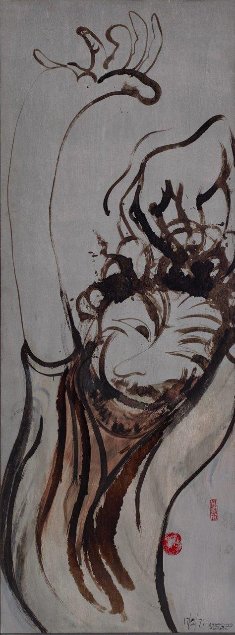 Self portrait after three bottles of wine, (1971) by Brett Whiteley