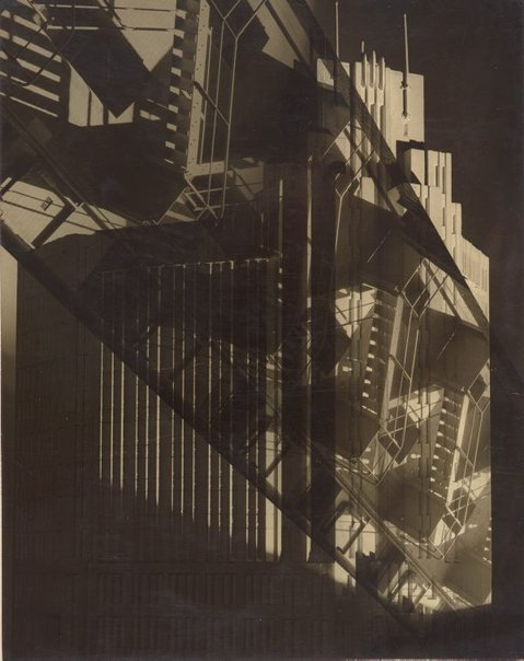 An image of (fire stairs at Bond St) by Max Dupain