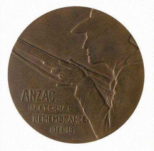 An image of Anzac medal by Dora Ohlfsen