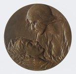 Alternate image of Anzac medal by Dora Ohlfsen