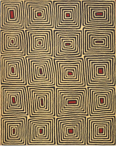 An image of Untitled (Tingari motifs) by Ronnie Tjampitjinpa