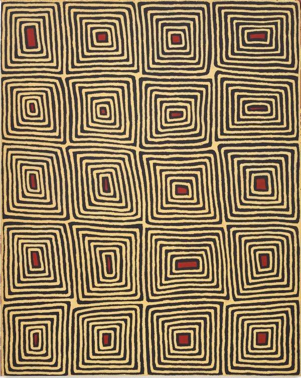 Untitled (Tingari motifs), (1997) by Ronnie Tjampitjinpa
