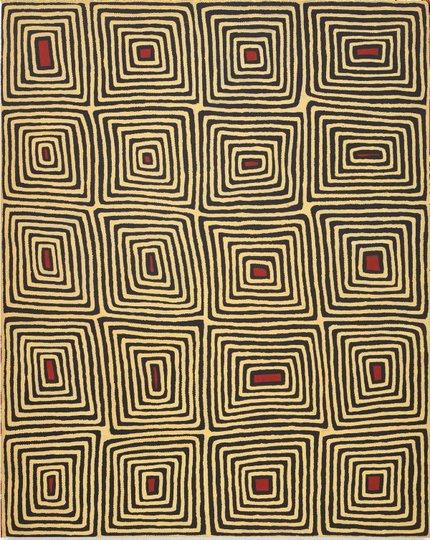 AGNSW collection Ronnie Tjampitjinpa Untitled (Tingari motifs) (1997) 355.1997