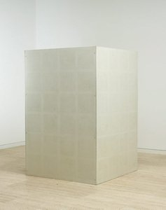 Wall drawing #23: drawing series A on aluminium box. One series on each face, (1969) by Sol LeWitt