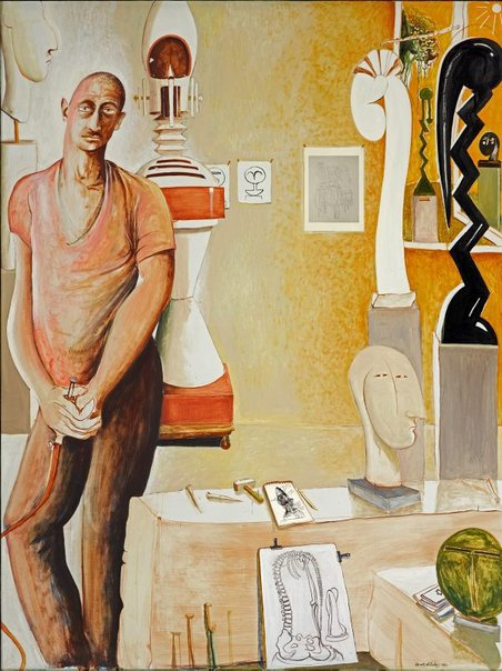 An image of Portrait of Joel Elenberg by Brett Whiteley
