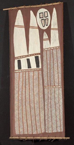 An image of Hollow log bone coffin by Jack Maranbuma