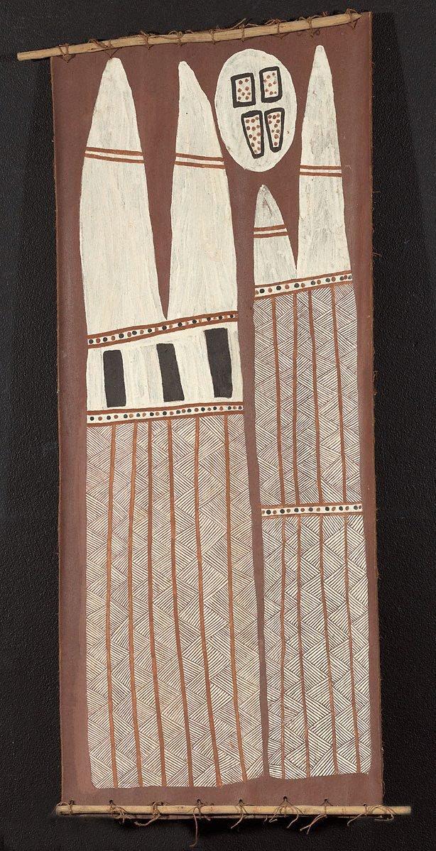An image of Hollow log bone coffin