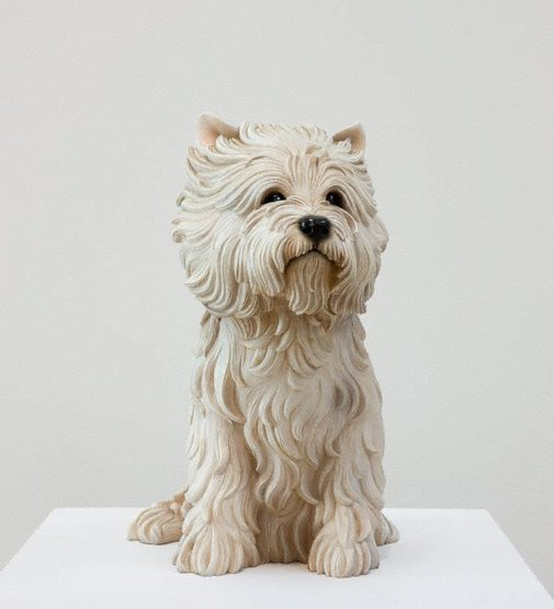 An image of White terrier by Jeff Koons