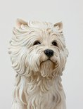Alternate image of White terrier by Jeff Koons