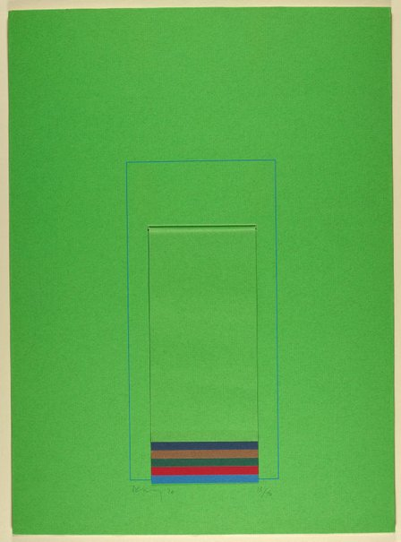 An image of Mirrors (Light Green) by Robyn Denny