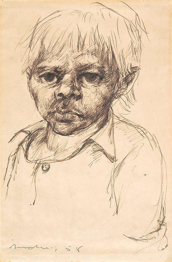 An image of Portrait of an Aboriginal boy