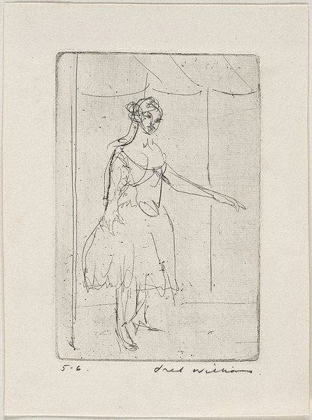 An image of Dancer standing by Fred Williams