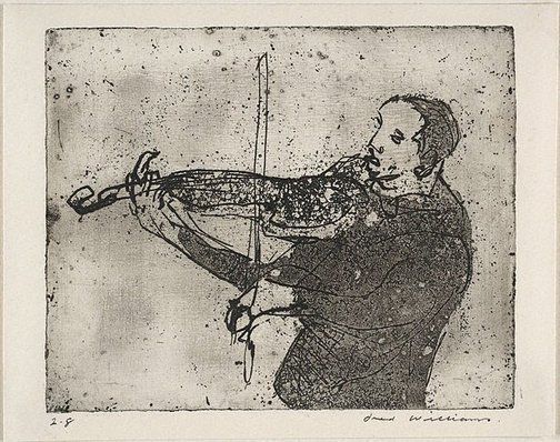An image of Violinist by Fred Williams