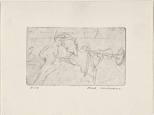 An image of Trumpeter by Fred Williams