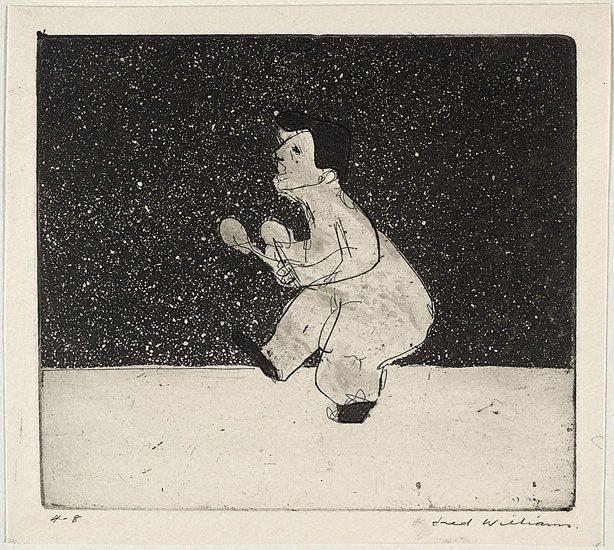 An image of Little man juggling