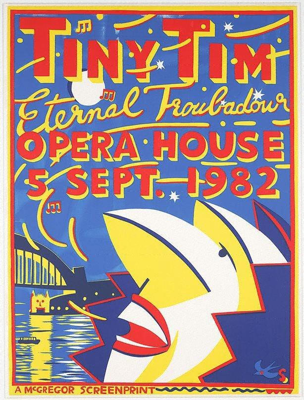 An image of Tiny Tim, eternal troubadour