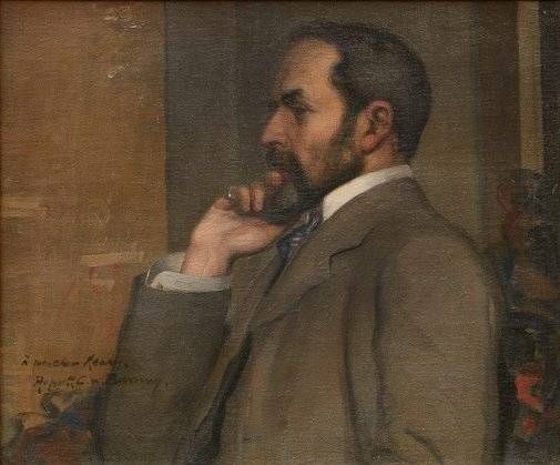 An image of Portrait of C.F. Keary by Rupert Bunny