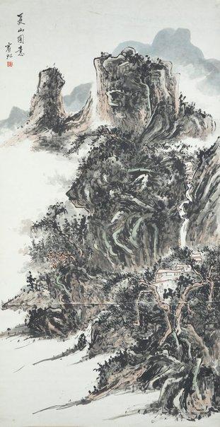 An image of Summer mountain by Huang Binhong