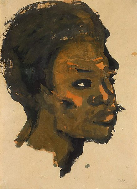 An image of Head of a South Sea Islander by Emil Nolde