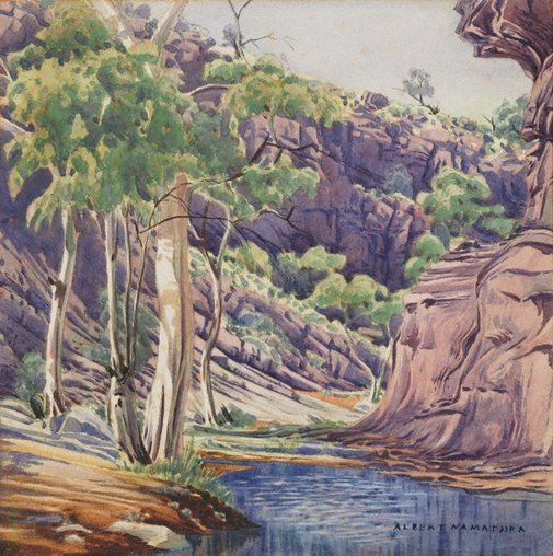 An image of Catherine Creek, Northern Territory by Albert Namatjira