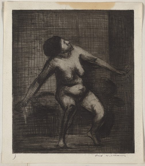 An image of Nude figure by Fred Williams