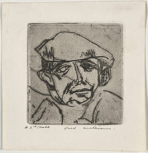 An image of Charles Blackman by Fred Williams