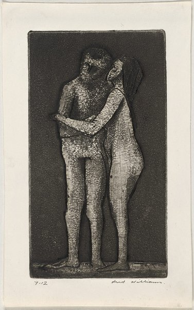 An image of Adam and Eve by Fred Williams