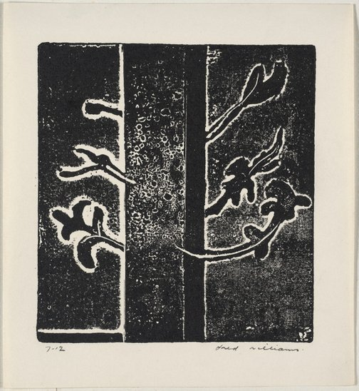 An image of Design for a programme cover by Fred Williams