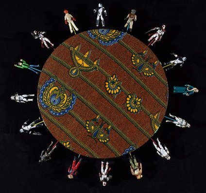 Alternate image of Alien toy painting by Yinka Shonibare