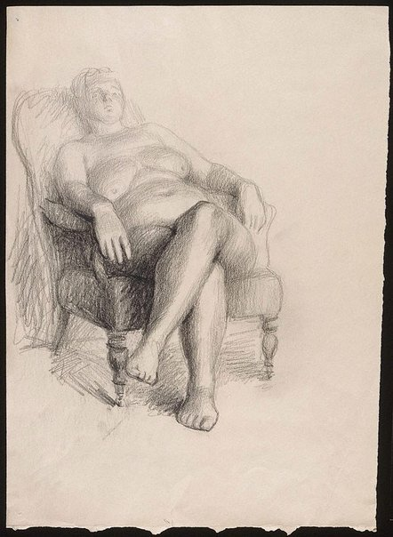 An image of Seated nude III by Oliffe Richmond