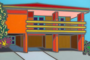 Superb + solid, (1998) by Howard Arkley