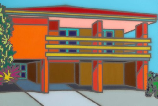 An image of Superb + solid by Howard Arkley