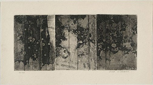 An image of Landscape triptych number 1 by Fred Williams