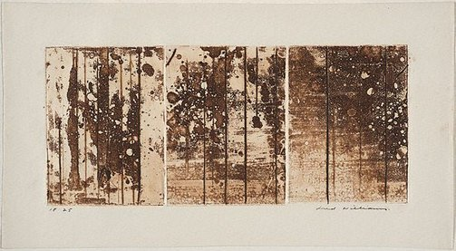 An image of Landscape triptych number 2 by Fred Williams